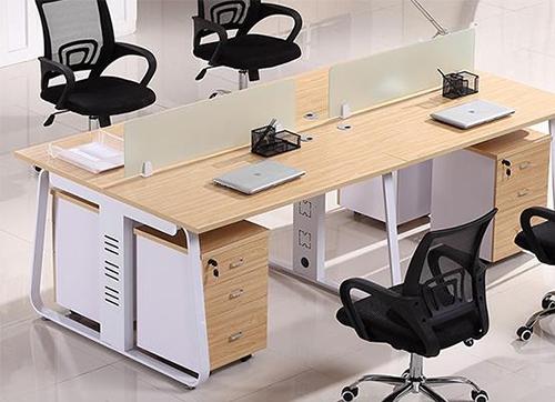 烤漆钢架办公桌