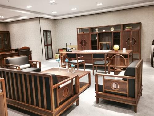 实木桌椅全套办公家具组合