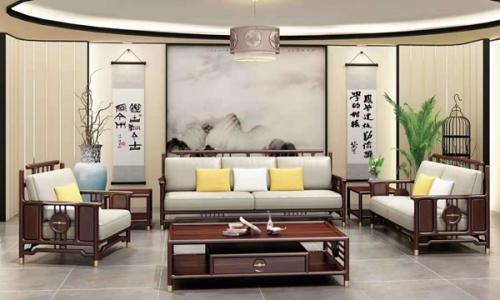 实木会客厅沙发桌椅组合