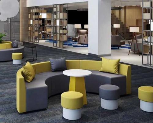 清新简约办公室沙发桌椅
